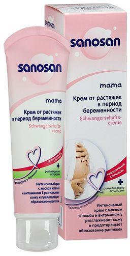 Sanosan Mama Крем от растяжек в период беременности, крем для тела, 100 мл, 1шт.