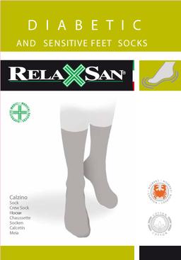 Relaxsan Diabetic Socks носки для диабетиков с крабовой нитью, р. 6, арт. 560, без компрессии, черного цвета, пара, 1 шт.