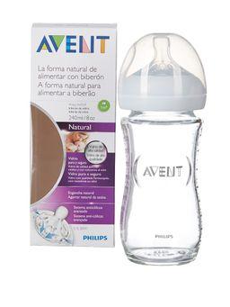 Бутылочка Philips AVENT Natural стеклянная, SCF673/17, 240 мл, арт. 81420, 1 шт.
