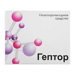 Гептор, 400 мг, таблетки, покрытые кишечнорастворимой оболочкой, 40шт.