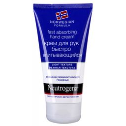 Neutrogena Норвежская формула Крем для рук быстровпитывающийся, крем для рук, без отдушки, 75 мл, 1 шт.