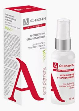 Achromin Крем для лица ночной отбеливающий, для сухой чувствительной кожи, 50 мл, 1шт.