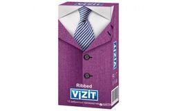 Презервативы Vizit Classic Ribbed, презерватив, ребристые, 12 шт.