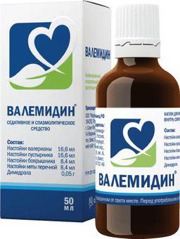 Валемидин, капли для приема внутрь спиртовые, 50 мл, 1 шт.