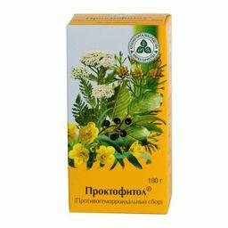 Проктофитол (Противогеморроидальный сбор), сбор растительный-сырье измельченное, 100 г, 1 шт.