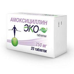 Экобол, 250 мг, таблетки, 20шт.