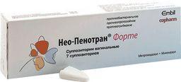Нео-Пенотран Форте, 750 мг+200 мг, суппозитории вагинальные, 7шт.