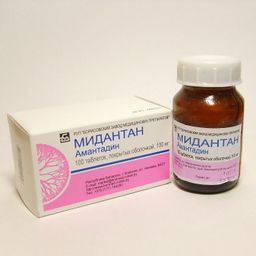 Мидантан, 100 мг, таблетки, покрытые оболочкой, 100шт.
