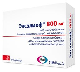 Эксалиеф, 800 мг, таблетки, 30 шт.