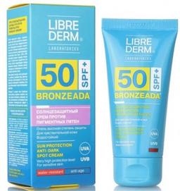 Librederm Bronzeada Крем для лица и зоны декольте солнцезащитный против пигментных пятен SPF50, крем, 50 мл, 1 шт.
