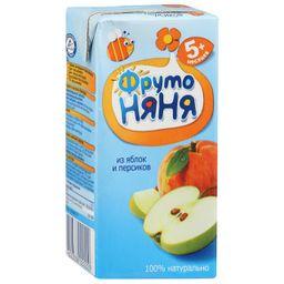 Фрутоняня сок неосветленный Яблоко и персик