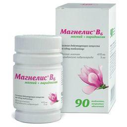 Магнелис В6, таблетки, покрытые оболочкой, 90шт.