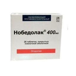 Нобедолак, 400 мг, таблетки, покрытые пленочной оболочкой, 28 шт.