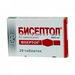 Бисептол, 480 мг, таблетки, 20шт.
