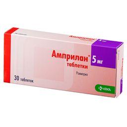 Амприлан, 5 мг, таблетки, 30шт.