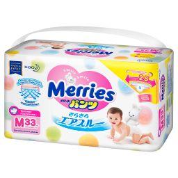 Подгузники-трусики детские Merries, 6-11 кг, м, 33шт.