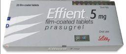 Эффиент, 5 мг, таблетки, покрытые пленочной оболочкой, 28шт.