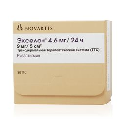 Экселон, 4.6 мг/сут, трансдермальная терапевтическая система, 30 шт.
