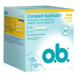 o.b. original normal тампоны женские гигиенические с аппликатором, тампоны женские гигиенические, 16 шт.