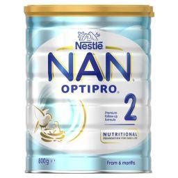 NAN 2 Optipro, для детей с 6 месяцев, смесь молочная сухая, с пробиотиками, 800 г, 1шт.