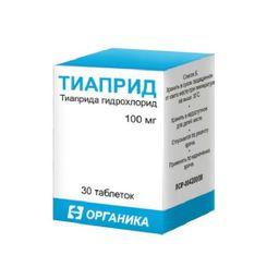 Тиаприд, 100 мг, таблетки, 30 шт.