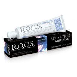 ROCS Зубная паста Сенсационное отбеливание, без фтора, паста зубная, 74 г, 1шт.