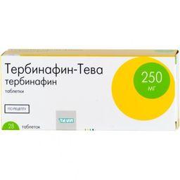 Тербинафин-Тева, 250 мг, таблетки, 28 шт.