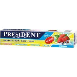 President Kids зубная паста клубника от 3 до 6 лет