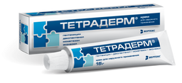 Тетрадерм, крем для наружного применения, 15 г, 1 шт.