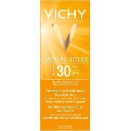 Vichy Capital Ideal Soleil Dry Touch SPF30 эмульсия матирующая, эмульсия для наружного применения, 50 мл, 1 шт.