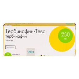 Тербинафин-Тева, 250 мг, таблетки, 14 шт.
