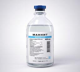 Маннит, 150 мг/мл, раствор для инфузий, 400 мл, 12 шт.
