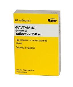 Флутамид, 250 мг, таблетки, покрытые оболочкой, 84 шт.