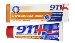 911 гель-бальзам с пчелиным ядом, гель-бальзам, 100 мл, 1 шт.