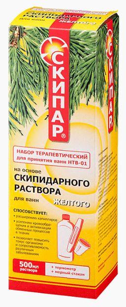 Скипар Набор терапевтический для принятия ванн НТВ-01, раствор для наружного применения, желтого цвета, 500 мл, 1 шт.