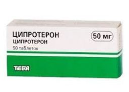 Ципротерон-Тева, 50 мг, таблетки, 50шт.