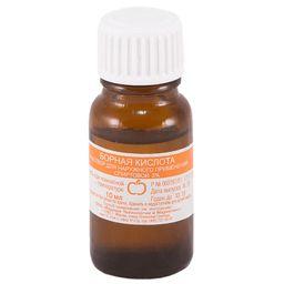 Борная кислота, 3%, раствор для наружного применения спиртовой, 10 мл, 1 шт.