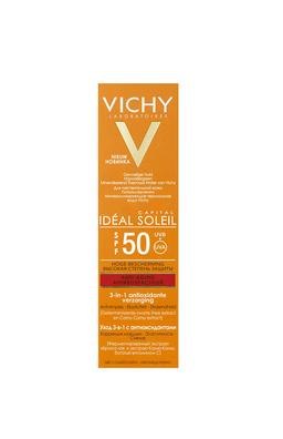 Vichy Capital Ideal Soleil уход антивозрастной 3в1 SPF50, с антиоксидантами, 50 мл, 1 шт.