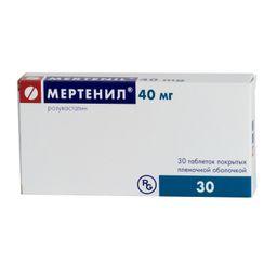 Мертенил, 40 мг, таблетки, покрытые пленочной оболочкой, 30 шт.
