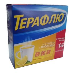 ТераФлю, порошок для приготовления раствора для приема внутрь, лимонные(ый), 22.1 г, 14 шт.