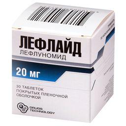 Лефлайд, 20 мг, таблетки, покрытые пленочной оболочкой, 30 шт.