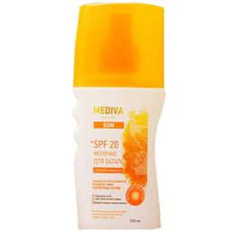 Mediva Sun Молочко для загара spf-20, молочко для тела, 150 мл, 1 шт.