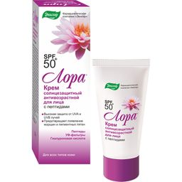 Лора крем солнцезащитный SPF 50+, крем для лица, 30 г, 1шт.