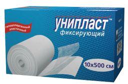 Унипласт пластырь фиксирующий, 10х500, пластырь медицинский, на основе сетчатого нетканого материала, 1шт.