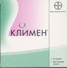 Климен, таблетки, покрытые оболочкой, 21 шт.