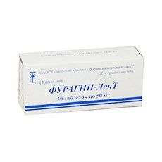 Фурагин-ЛекТ, 50 мг, таблетки, 30 шт.