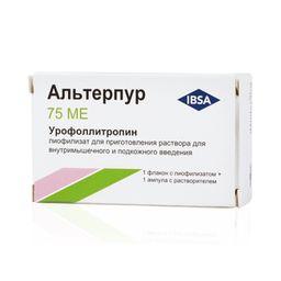 Альтерпур, 75 МЕ, лиофилизат для приготовления раствора для внутримышечного и подкожного введения, 1 шт.