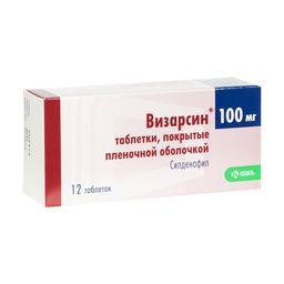 Визарсин, 100 мг, таблетки, покрытые пленочной оболочкой, 12 шт.