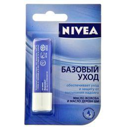 Nivea Бальзам для губ Базовый уход, бальзам для губ, 4.8 г, 1 шт.