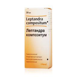 Лептандра композитум, капли для приема внутрь гомеопатические, 30 мл, 1 шт.